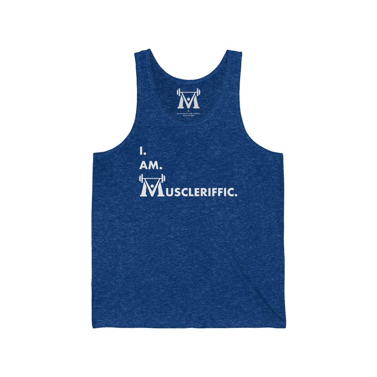 Men's I.Am.Muscleriffic. Jersey Tank
