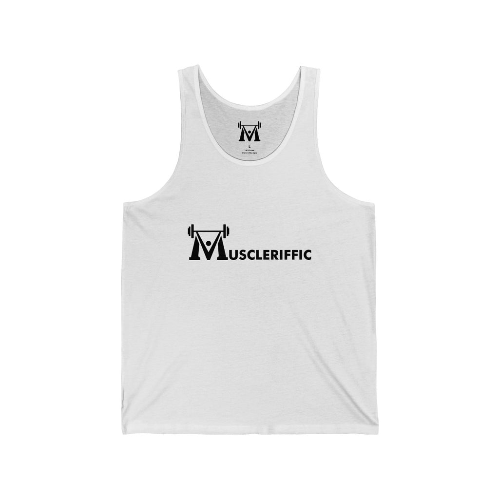 The Nic Basic Tank - Linear Logo - White