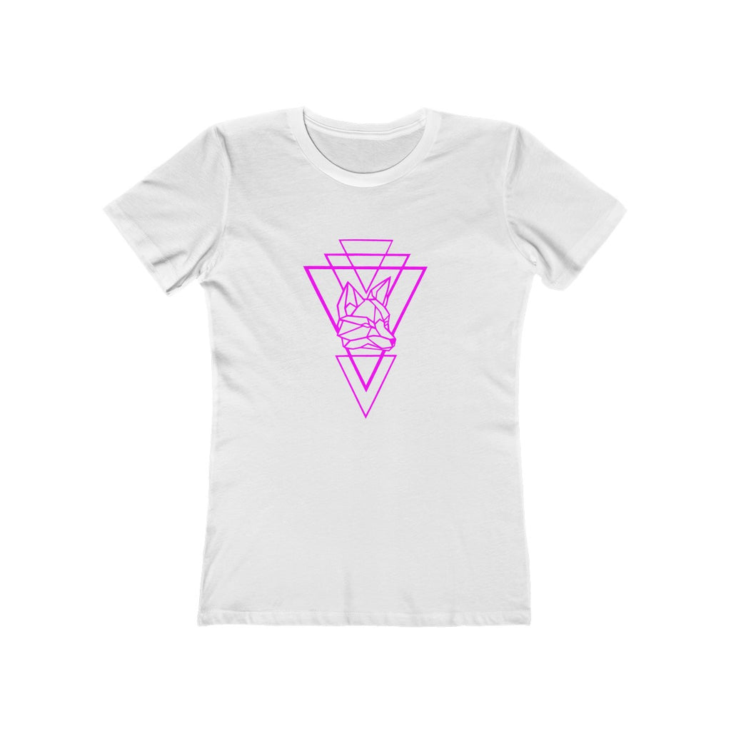Riding With Nick - Magenta - Women's The Boyfriend Tee