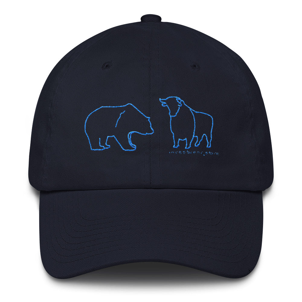 """Bull & Bear"" - Cotton Cap"