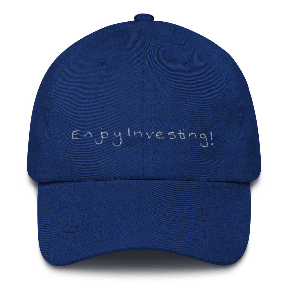 """Enjoy Investing"" - Cotton Cap"