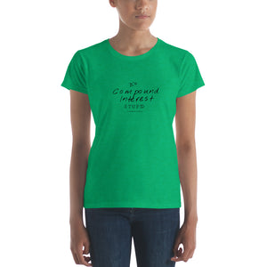 """It's Compound Interest, Stupid!"" - Women's t-shirt classic"