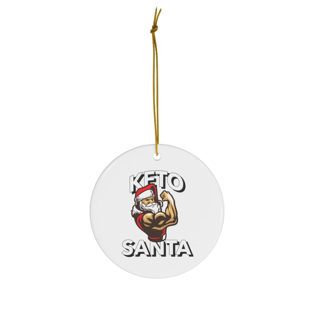 Keto Santa Ornament