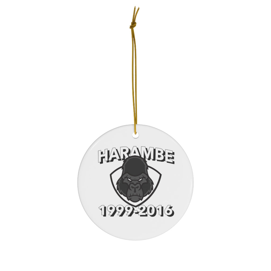 Harambe Christmas Ornament