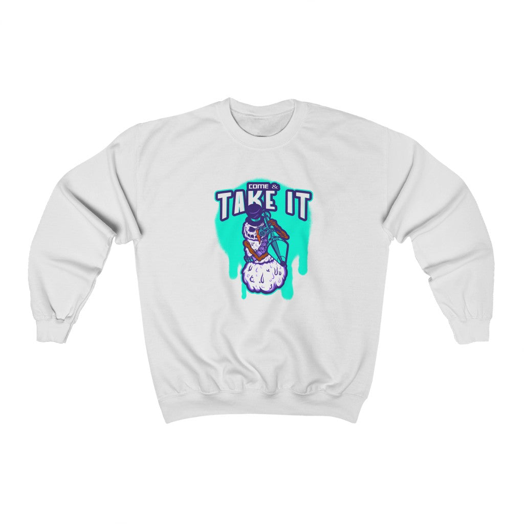 Come and Take it Snowman Sweatshirt