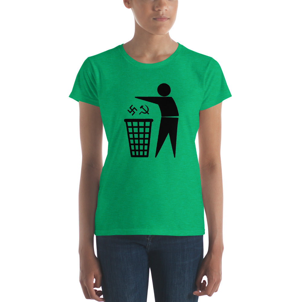 Nazi Commie Trash Women's T-Shirt