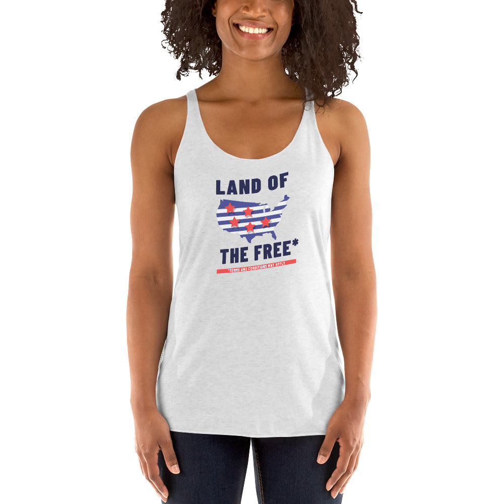 Land of the Free* Racerback Tank