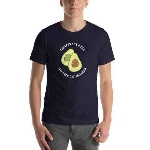 Tariffs are a Tax Avocado Men's T-Shirt