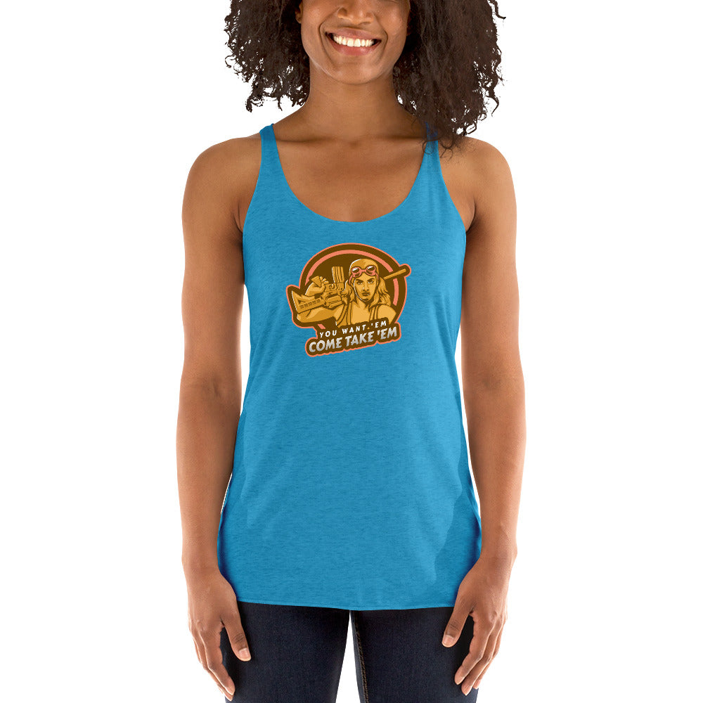 You Want 'Em, Come Take 'Em Racerback Tank