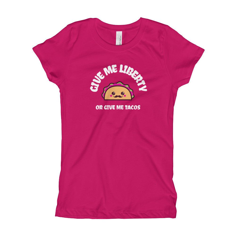 Give Me Liberty or Give Me Tacos Girls' T-Shirt
