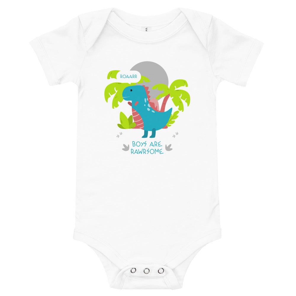 Boys are Rawr-some Baby Bodysuit