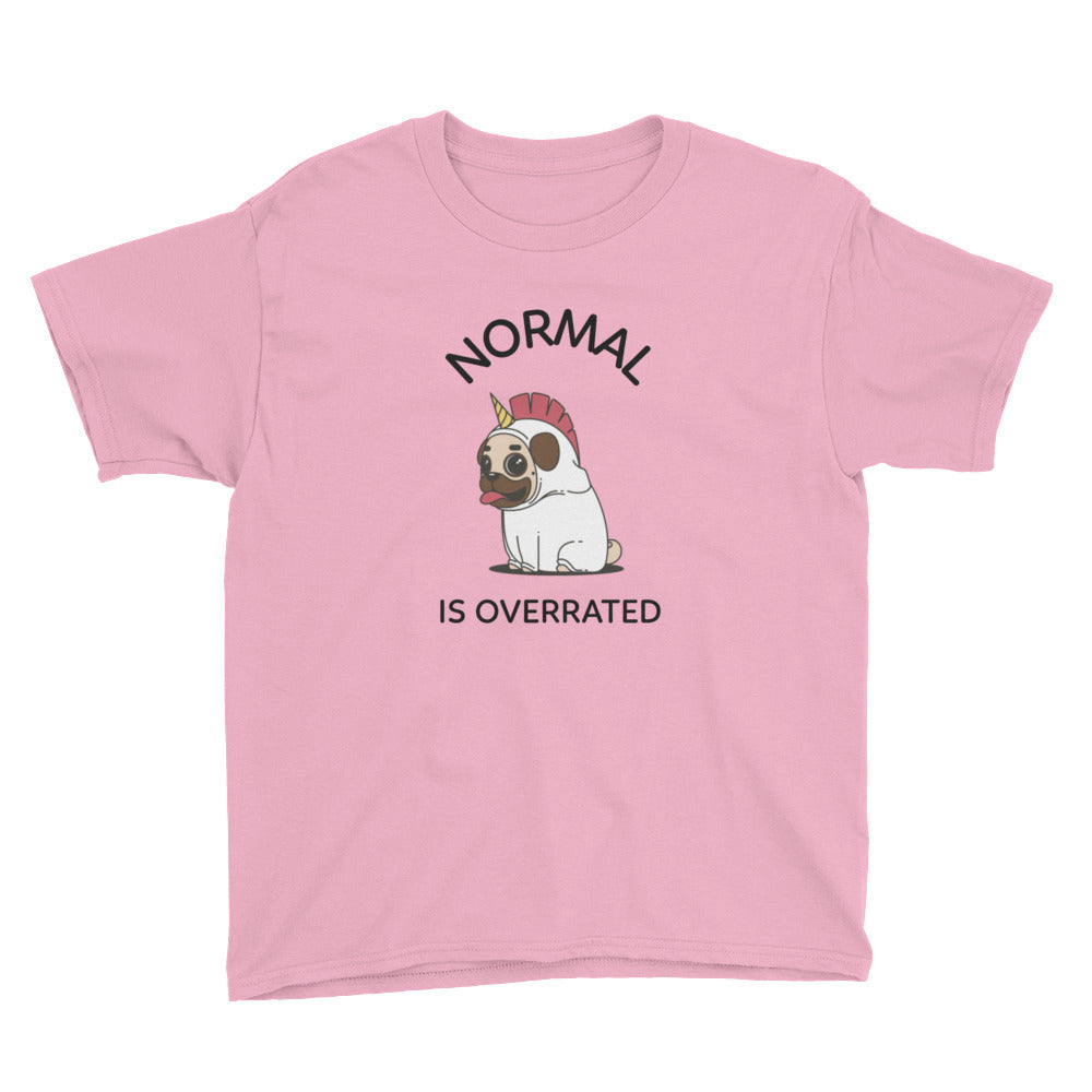 Normal is Overrated Pug Kids' T-Shirt
