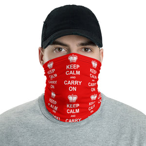 Keep Calm and Carry On Neck Gaiter