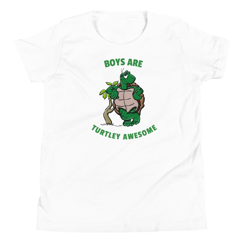 Boys are Turtley Awesome Youth Short Sleeve T-Shirt