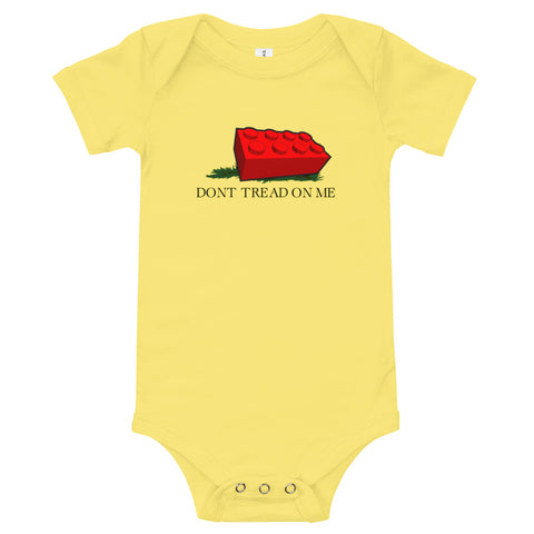 Don't Tread On Me Block Baby Body Suit