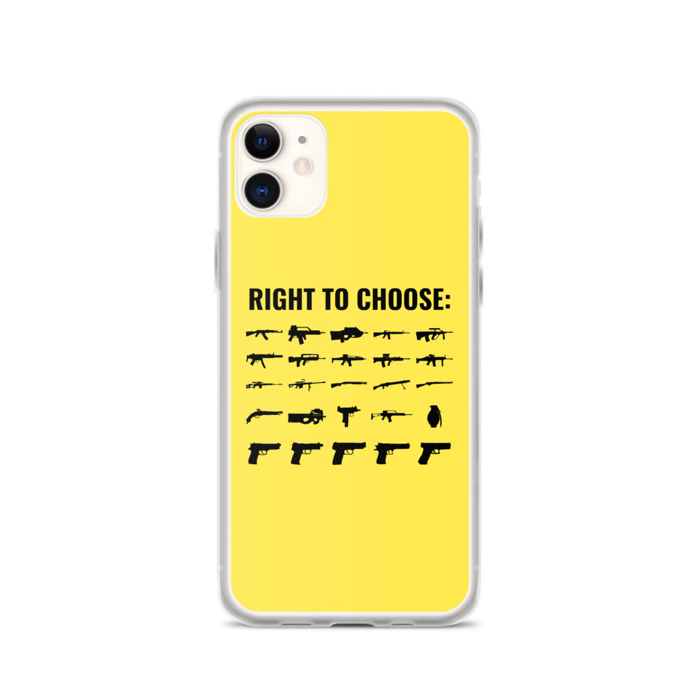 Right to Choose iPhone Case