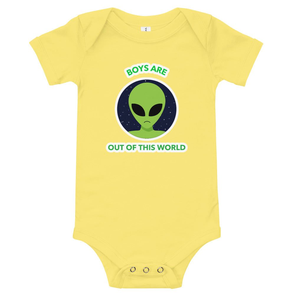 Boys Are Out of This World Baby Bodysuit