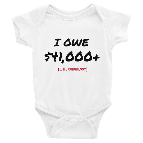 National Debt Infant Bodysuit