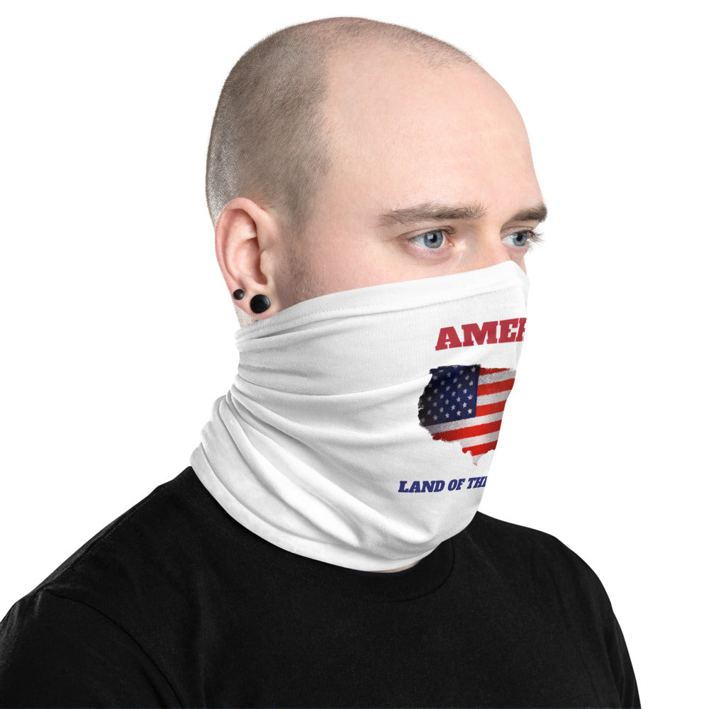 America: Land of the Free? Neck Gaiter