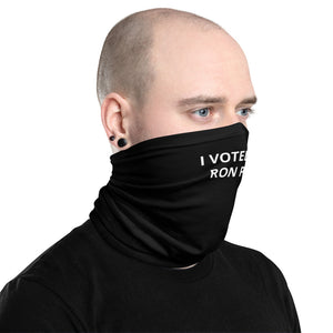 I Voted for Ron Paul Neck Gaiter