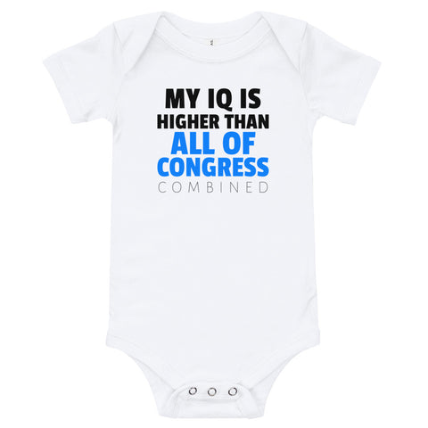 Higher IQ Than Congress Baby Bodysuit