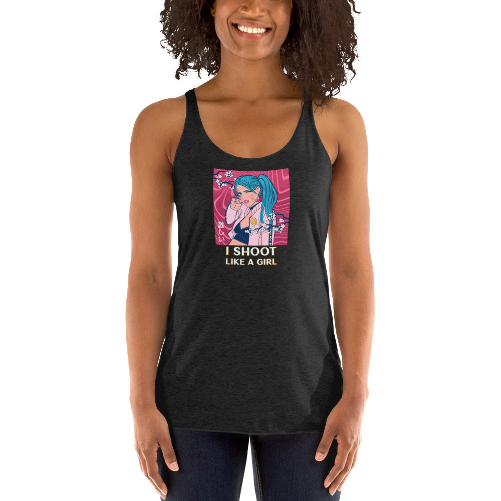 I Shoot Like a Girl Racerback Tank