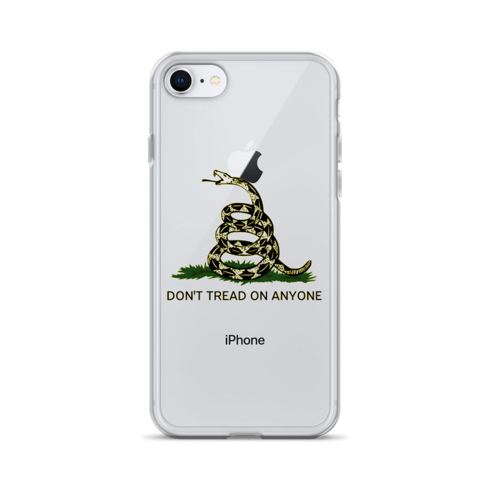 Don't Tread on Anyone Clear Case