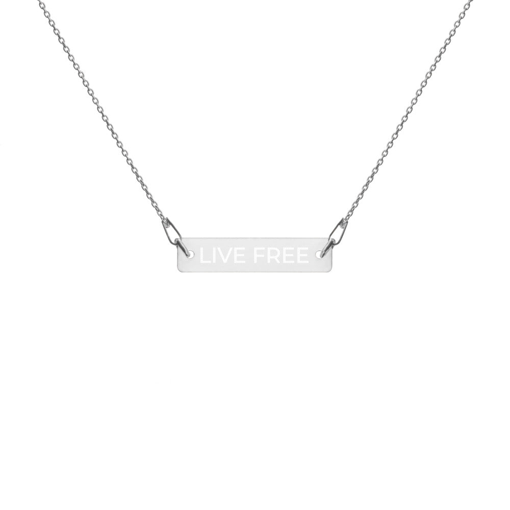 Live Free Bar Chain Necklace
