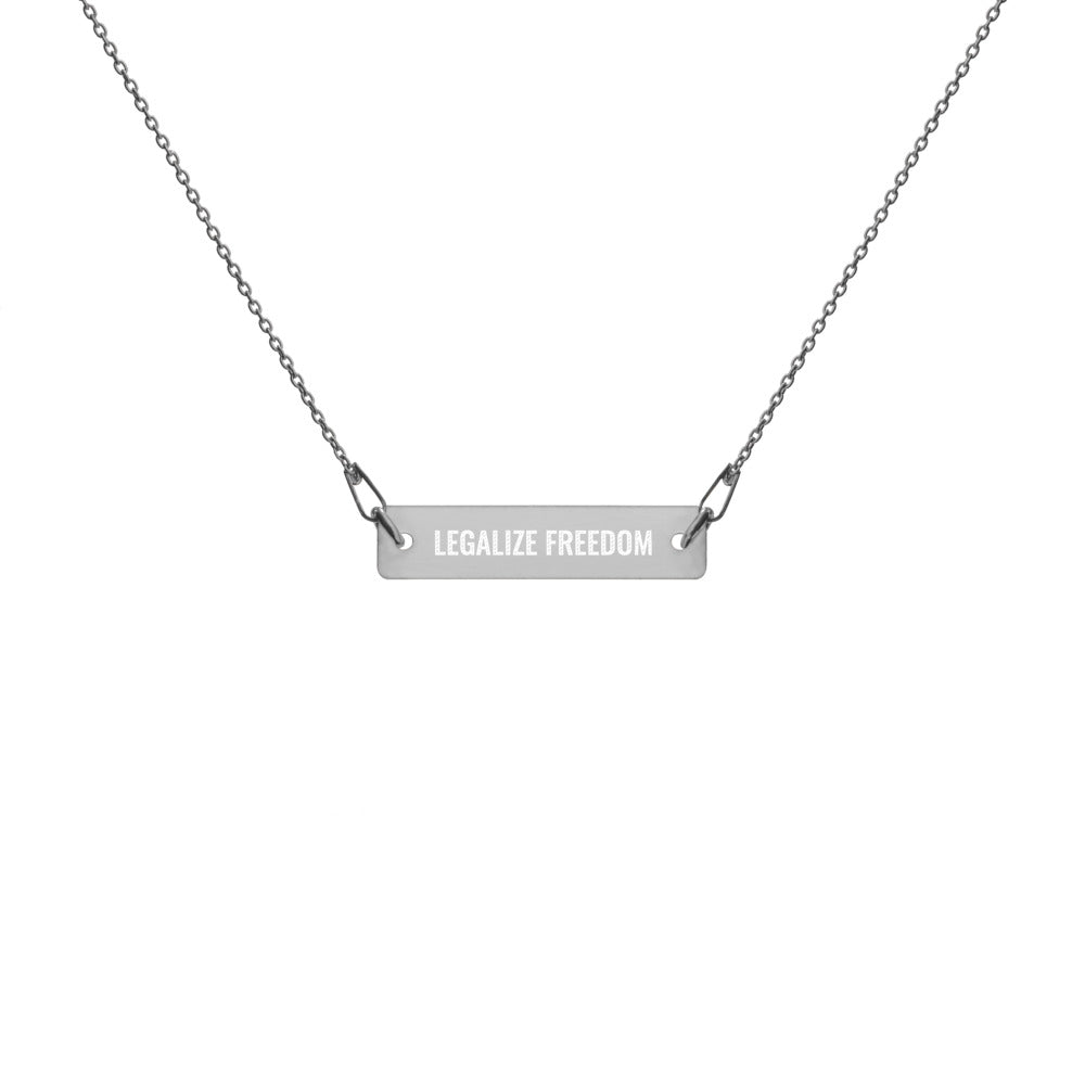 Legalize Freedom Engraved Chain Necklace