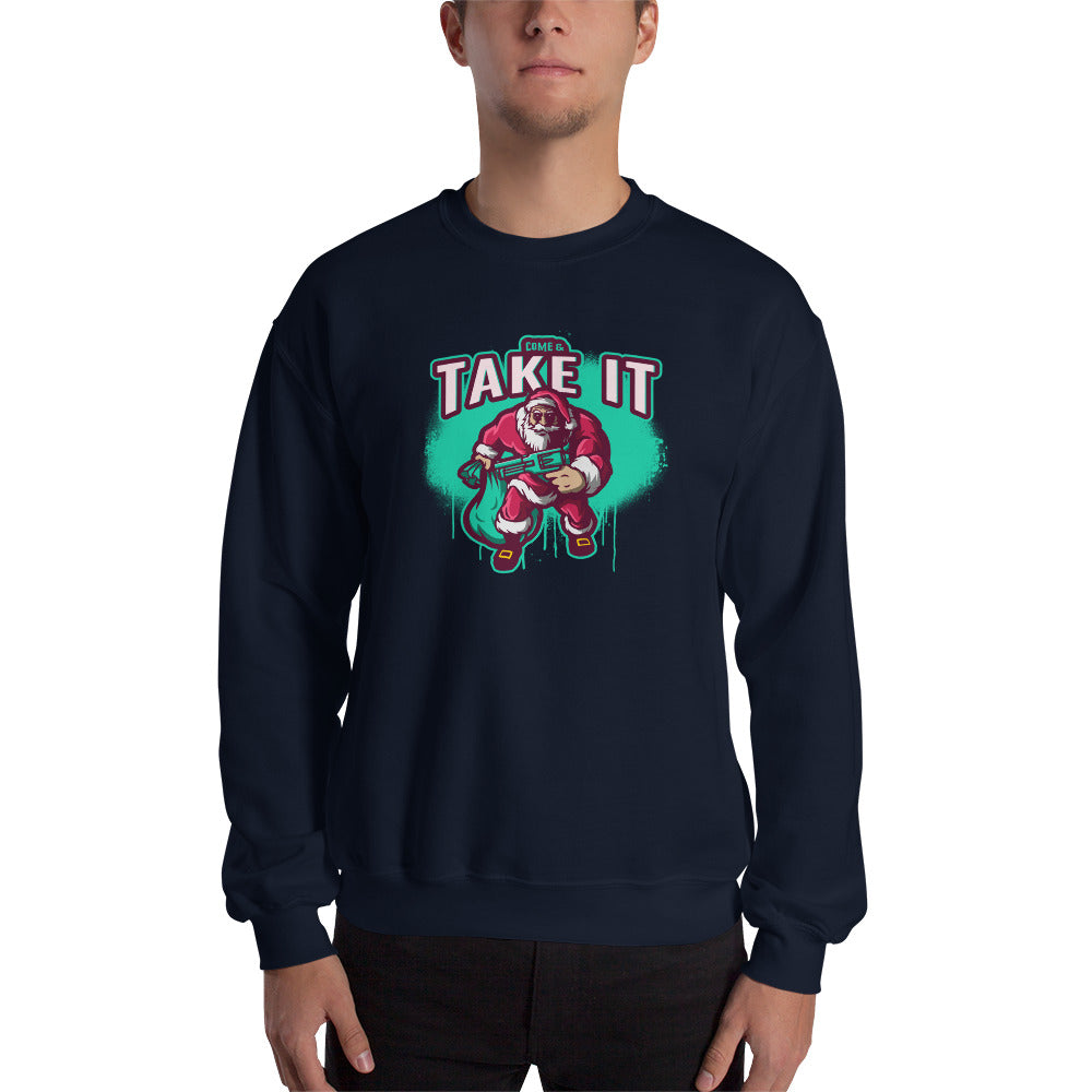 Come and Take it Santa Sweatshirt