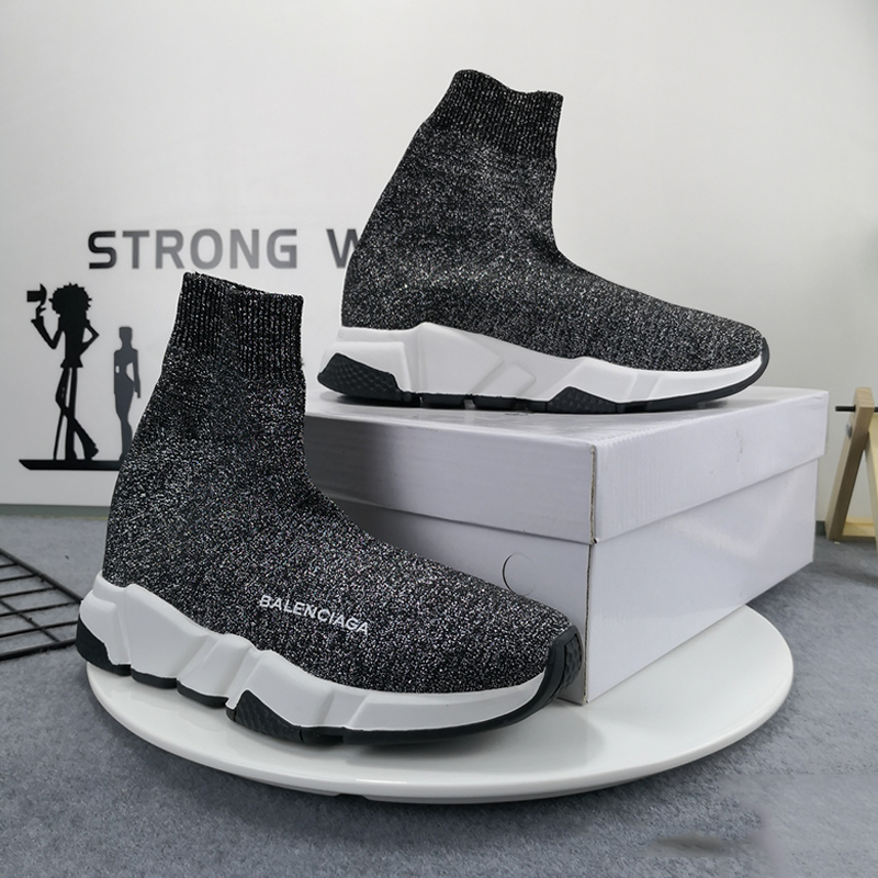 Men&Women Stretch-Knit High-Top Trainer