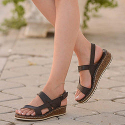 Women Casual Summer Irregular Slingback Wedge Sandals