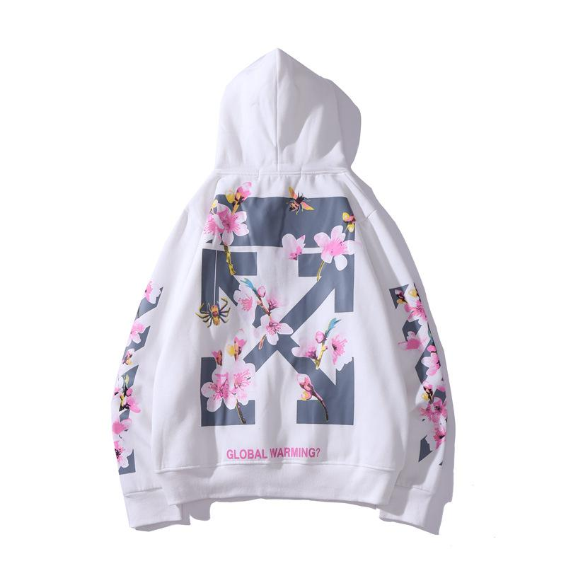 New Ladies Sakura Hoodie Off-White