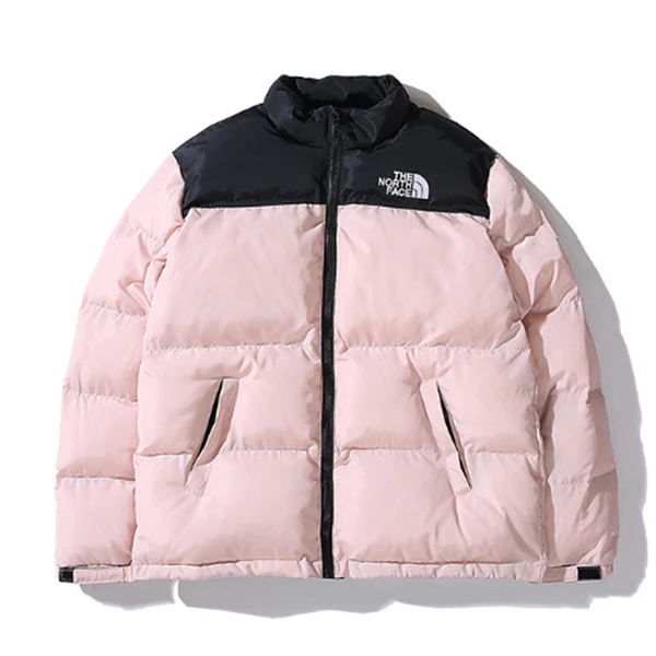 The North Face Color-Block Stand Collar Down Jacket