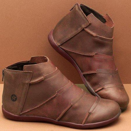 LovelyMs Flat Heel Spring Fall Boots for Women