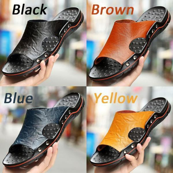Fashion Comfortable Plus Size Slippers Beach Sandals for Men