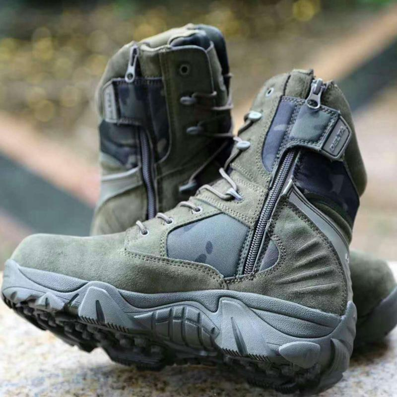 Camouflage Hunting boots  Military Combat Tactical Boots