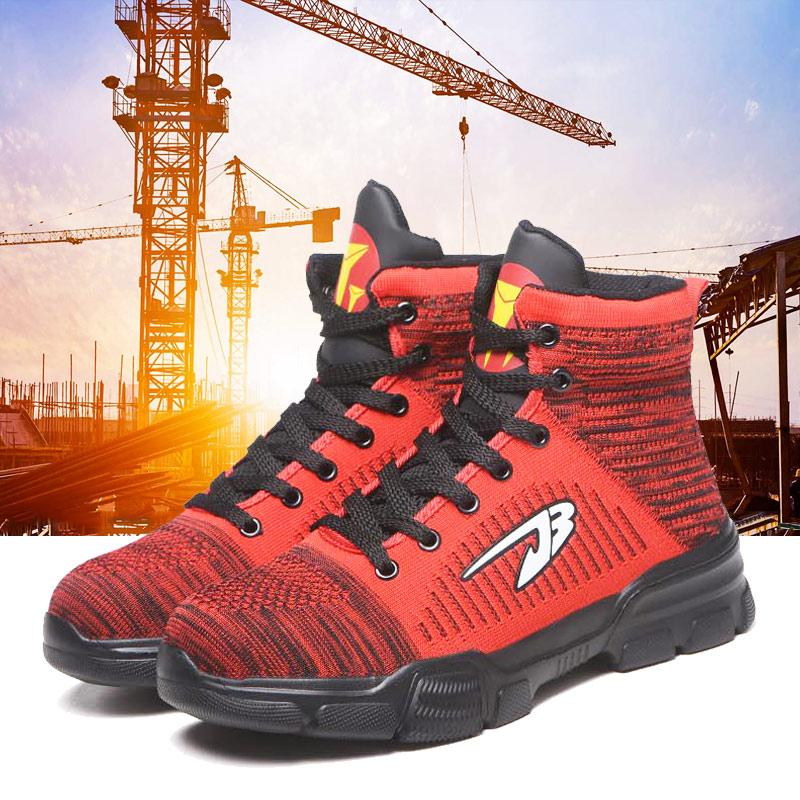 Men Anti-smashing Steel Toe Cap Working Boots