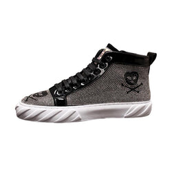 LovelyMs Skull Boots For Men Hip Hop Botas MTS8996