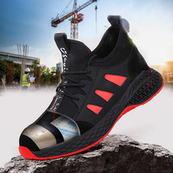 Men Breathable Anti-Smashing Lightweight Work Boots