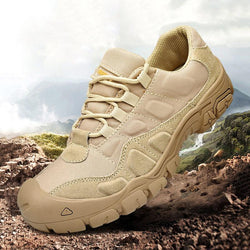 Men Military Army Leather Outdoor Non-Slip Sneakers