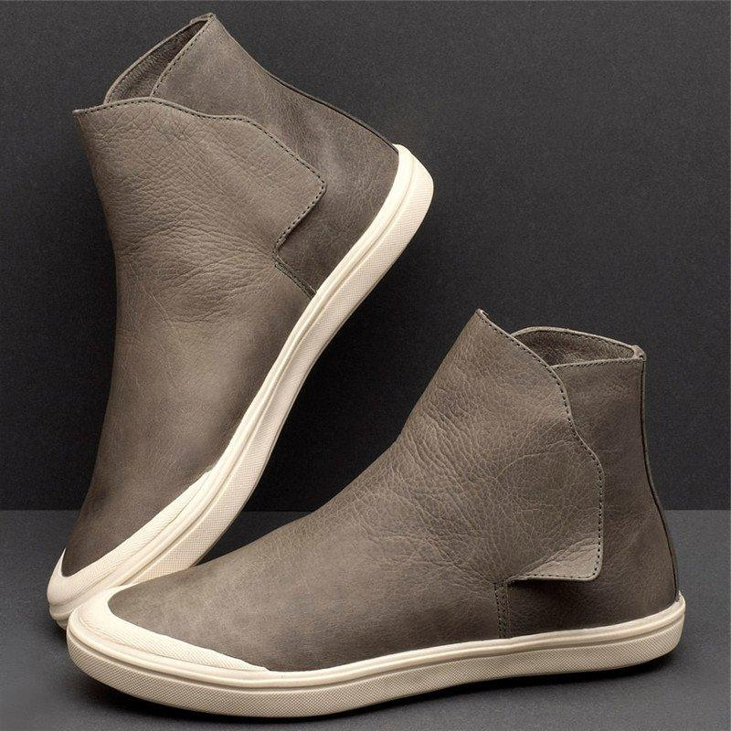 LovelyMs Women Casual Comfy High Top Slip On Flat Sneakers