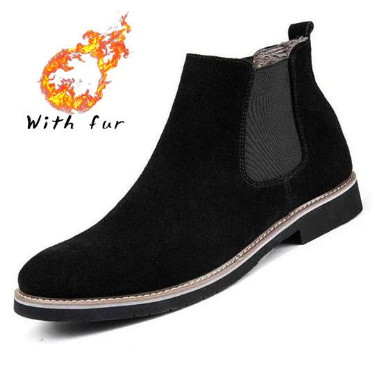 Fashion Male Leather Quality Slip On Boots