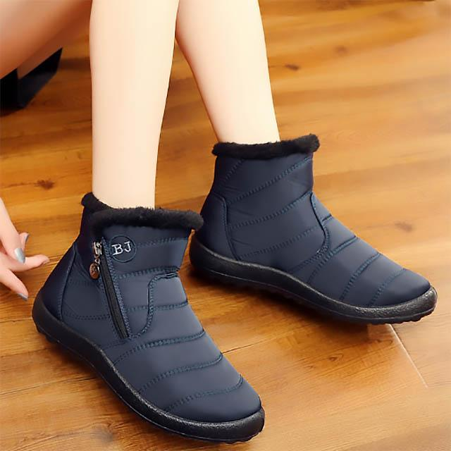 LovelyMs Woman Plush Inside Waterproof Winter Boots