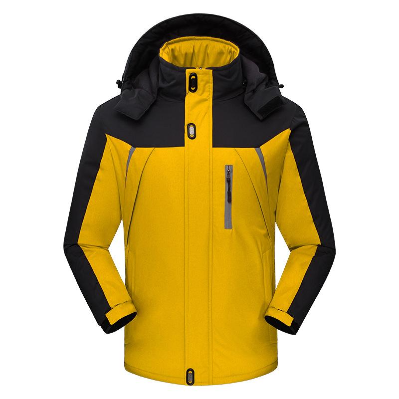 Men Warm Winter Waterproof Windproof Velvet Jacket