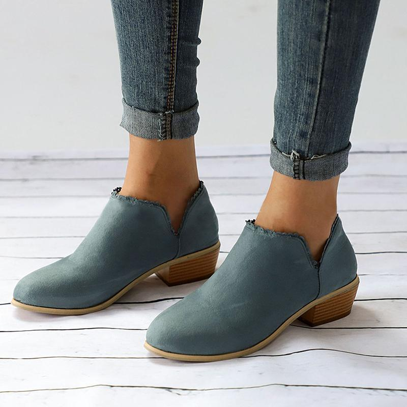 Women Comfort Ankle Booties Casual Slip On Plus Size Shoes