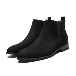 LovelyMs Classic Suede Basic Male Fashion Lace-Up Winter Casual Boots
