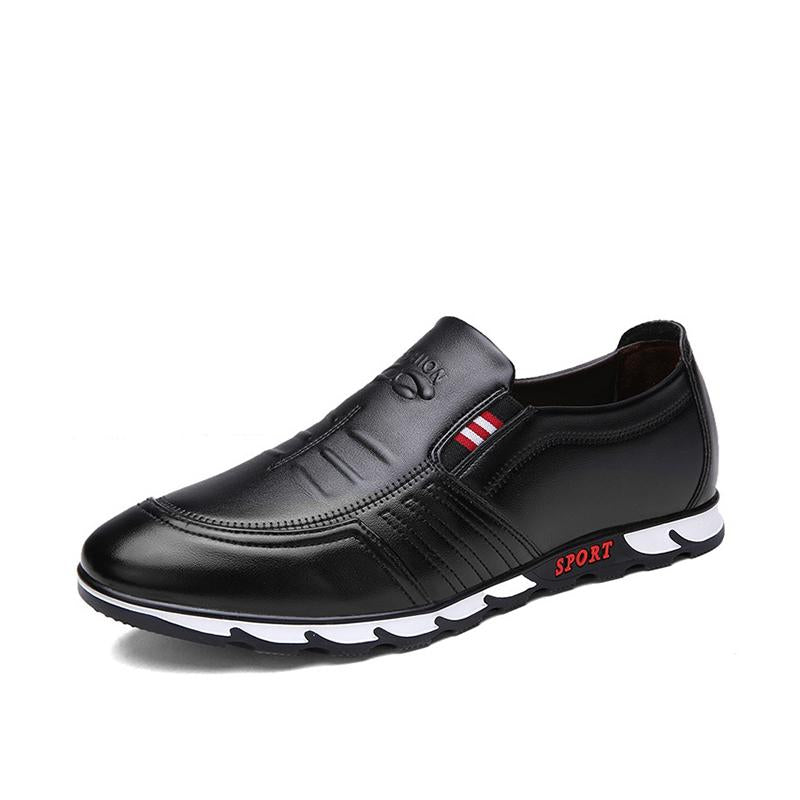 LovelyMs Casual Men Slip On Flat Leather Fashion Shoes