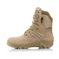 Military Tactical Mens Special Force Leather Waterproof Desert Combat Ankle Boots
