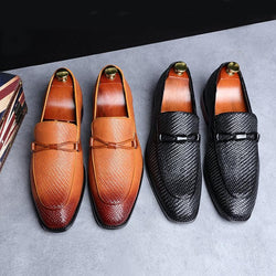 Fashion Leather Oxford Breathable Flats Men Soft-soled Shoes